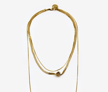 Tangled Flat Chain Necklace